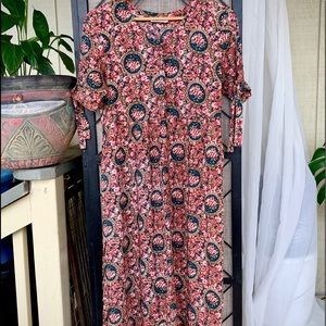 Liberty House Floral Vintage Long Dress Medium